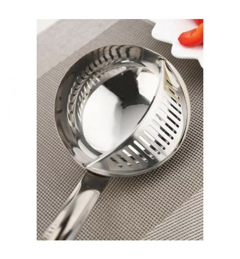 2 In 1 Spoon Colander - 1pc Stainless Steel